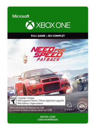 xbox one need for speed payback edition digital download walmart canada. Black Bedroom Furniture Sets. Home Design Ideas