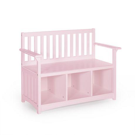 Guidecraft Classic Pink Storage Bench With Bins Walmart