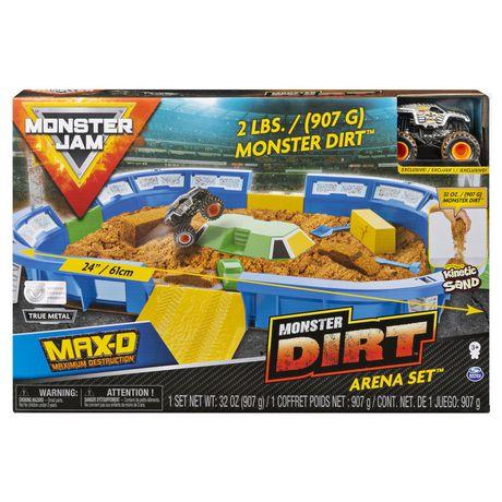 "Monster Jam 24"" Playset Dirt Arena w/ Die-Cast Monster Jam Truck - image 1 of 4"