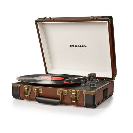Crosley Executive USB Enabled 3-Speed Portable Record Player Turntable, Black - image 2 de 4