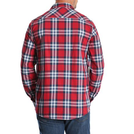 Chemise à carreaux à manches longues de première qualité Wrangler pour hommes - image 2 de 3