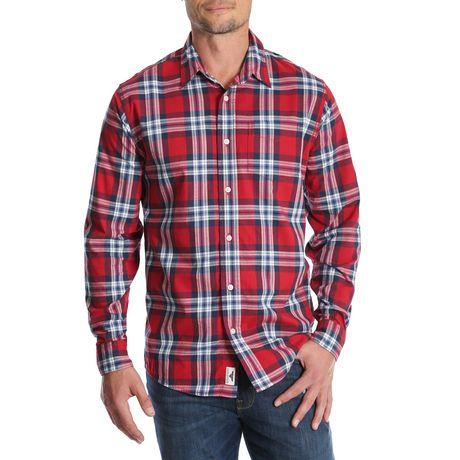 Chemise à carreaux à manches longues de première qualité Wrangler pour hommes - image 1 de 3