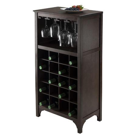 92729- Ancona Modular Wine Cabinet with Glass Rack & 20-Bottle - image 5 of 6