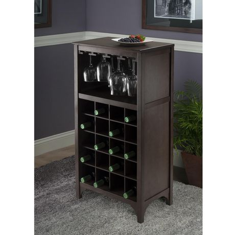92729- Ancona Modular Wine Cabinet with Glass Rack & 20-Bottle - image 6 of 6
