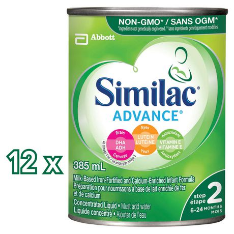 Similac® Advance® Step 2 Concentrated Liquid Baby Formula, 12 x 385 mL - image 2 of 9