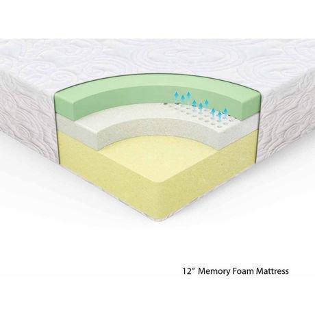 spa sensations 12 inch theratouch memory foam mattress walmart canada. Black Bedroom Furniture Sets. Home Design Ideas