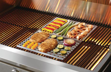 Backyard Grill Dual Sided Stainless Steel Barbecue Sheet - image 2 of 2
