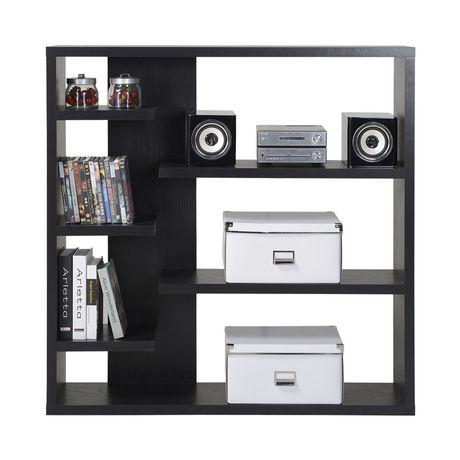 homestar 6 shelf storage bookcase in espresso