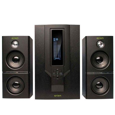 speakers at walmart. arion 2.1 soundstage speakers with subwoofer/remote (ar504lr-bk) - black   walmart canada at
