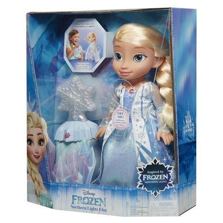 Disney Frozen Northern Lights Feature Elsa Doll Walmart