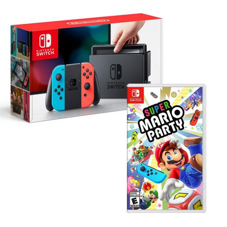 Nintendo Switch Neon Console with Super Mario Party Bundle - image 1 of 1