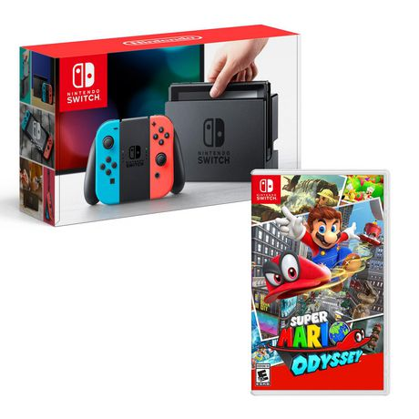 Nintendo Switch Neon Console with Super Mario Odyssey Bundle - image 1 of 1