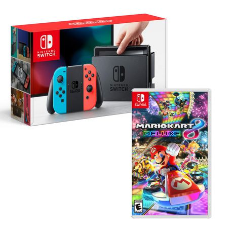 Nintendo Switch Neon Console with Mario Kart 8 Deluxe Bundle - image 1 of 1