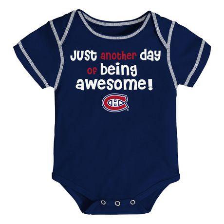 NHL Montreal Canadiens 3-Pack Onesie - image 1 of 4