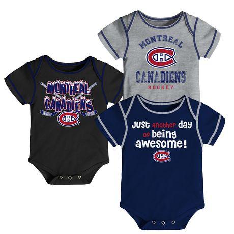 NHL Montreal Canadiens 3-Pack Onesie - image 4 of 4