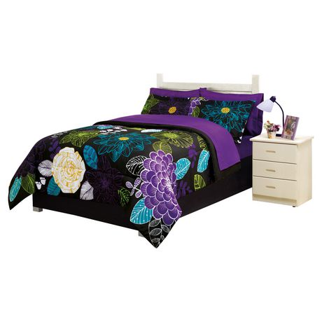 Your Zone Bed In A Bag Microfibre Bedding Set Floral
