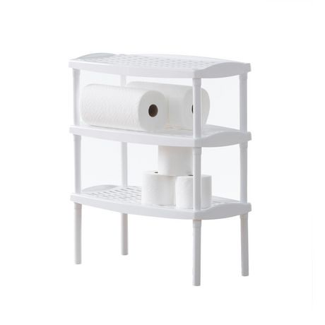 stackable plastic shelves mainstays stacking utility shelf plastic walmart canada 26555