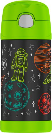 THERMOS BRAND FUNTAINER Vacuum Insulated Bottle, 355 mL, Space - image 1 of 2