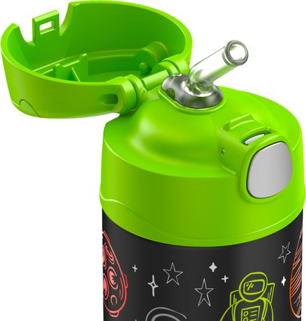 THERMOS BRAND FUNTAINER Vacuum Insulated Bottle, 355 mL, Space - image 2 of 2