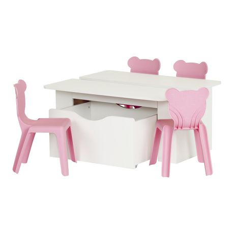 south shore ensemble table pour enfant avec 4 chaises en plastique crea. Black Bedroom Furniture Sets. Home Design Ideas