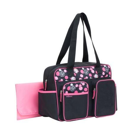 Baby Zebra Duffle Diaper Bag Black/Pink | Walmart Canada