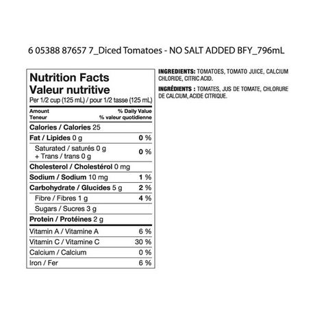 Great Value No Salt Added Diced Tomatoes - image 2 of 2