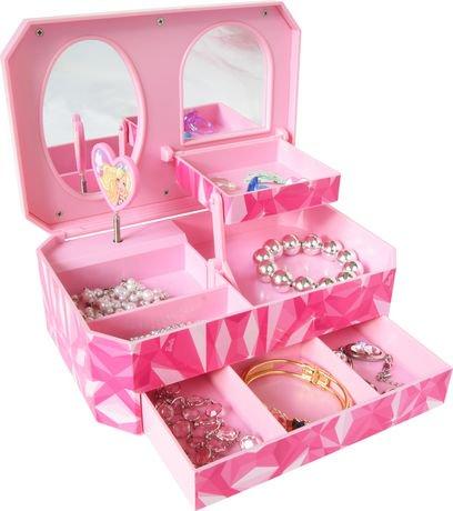 coffre bijoux barbie pour filles avec tiroir walmart. Black Bedroom Furniture Sets. Home Design Ideas