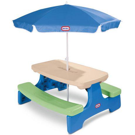 Table Easy Store avec parasol Little Tikes - image 1 de 4
