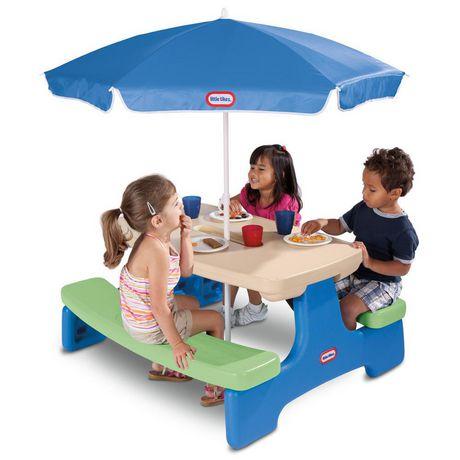 Table Easy Store avec parasol Little Tikes - image 3 de 4
