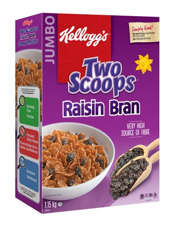 Kellogg's Two Scoops Raisin Bran Cereal,  1150g - image 3 of 5