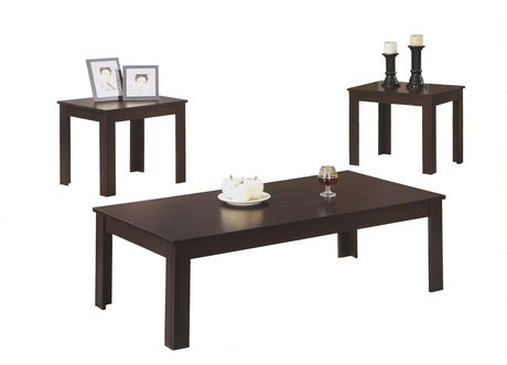 Monarch Specialties 3 Piece Cappuccino Table Set Walmartca