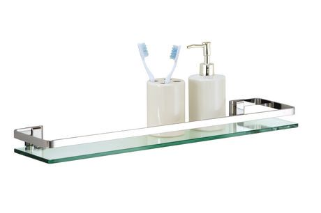 Glass Shelf with Chrome Rail | Walmart Canada