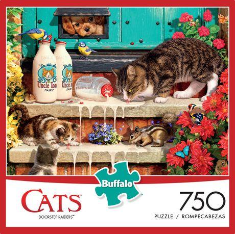 Buffalo Games Cats Le puzzle Doorstep Raiders en 750 pièces - image 1 de 3