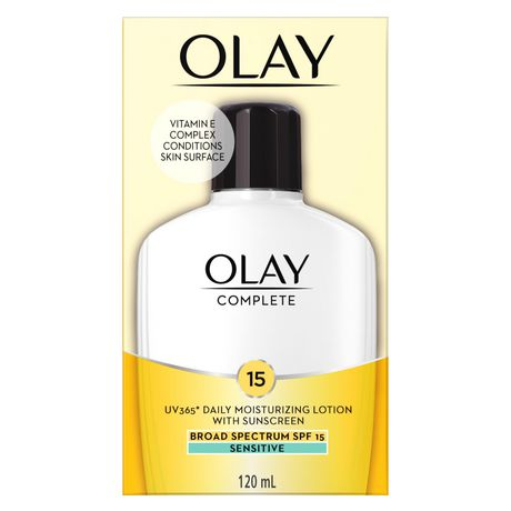 Olay Complete All Day Moisturizer with Uv Protection Spf 15 Oil-Free Lotion for Sensitive Skin, Vitamin E & Aloe - image 1 of 7
