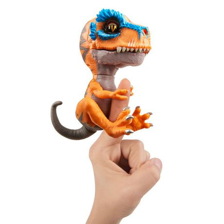 Untamed T-Rex by Fingerlings – Scratch (orange) - Interactive Collectible Dinosaur - by WowWee - image 2 of 5