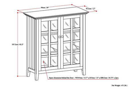 WyndenHall Normandy Medium Storage Cabinet - image 8 of 8