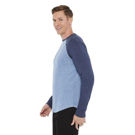 George Men's Long Sleeve Raglan Tee - image 2 of 6
