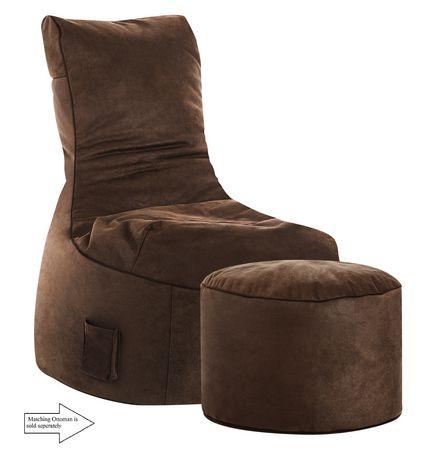 fauteuil poire swing cuba de sitting point en brun. Black Bedroom Furniture Sets. Home Design Ideas