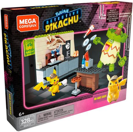 Mega Construx Pokemon Detective Pikachu and Ludicolo buildable figures!