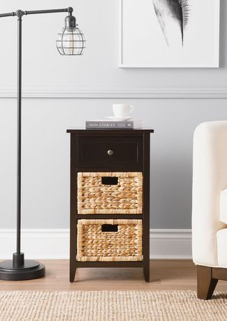 meuble de rangement hometrends 3 tiroirs walmart canada. Black Bedroom Furniture Sets. Home Design Ideas