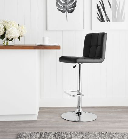 Hometrends Quilted Swivel Bar Stool Walmart Canada