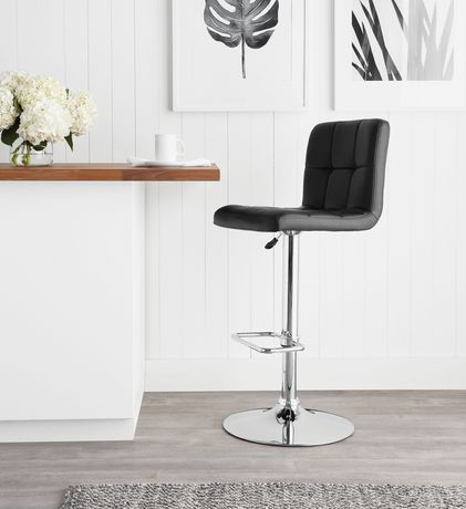 tabouret de bar pivotant matelass hometrends walmart canada. Black Bedroom Furniture Sets. Home Design Ideas
