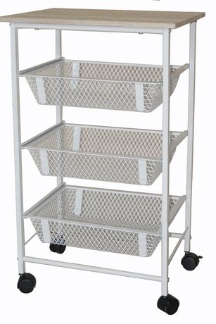 Charming Mainstays Rolling Storage Cart