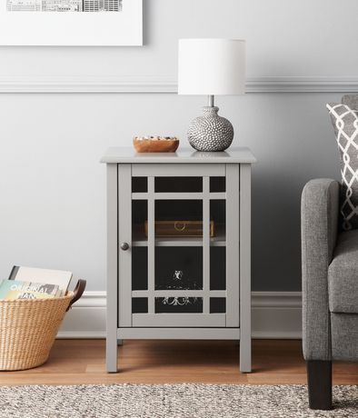 Hometrends Glass Door Storage Unit Walmart Canada