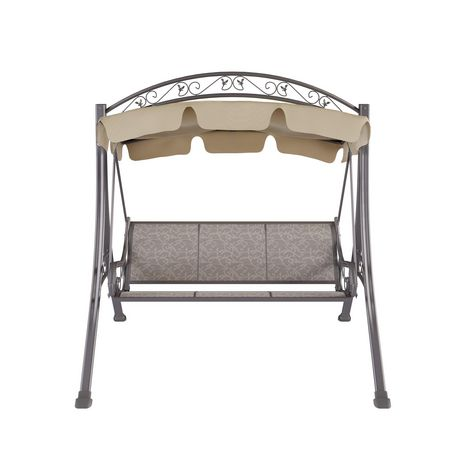 Corliving Pnt 803 S Nantucket Patio Swing With Arched Canopy