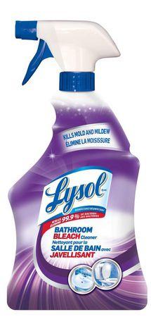 Lysol Bathroom Cleaner Spray, Bathroom Bleach, 950ml, Mold and Mildew Killer