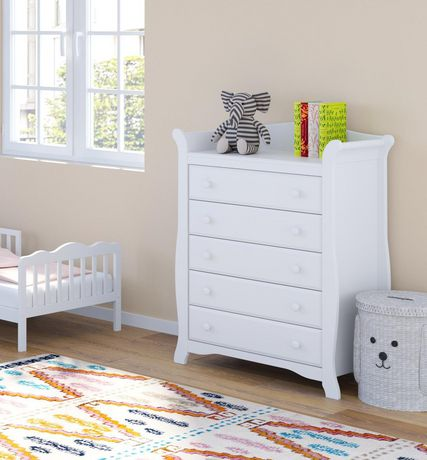 Storkcraft Avalon 5 Drawer Dresser – Easy New Assembly Process, Universal Design, Durable Steel Hardware and Euro-Glide Drawers with Safety Stops, Coordinates with Any Nursery - image 4 de 5