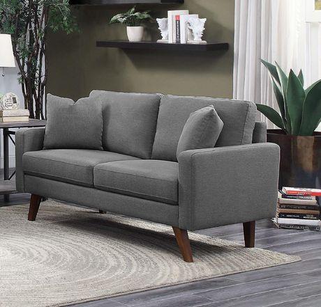Topline Home Furnishings Grey Fabric Loveseat - image 1 of 2