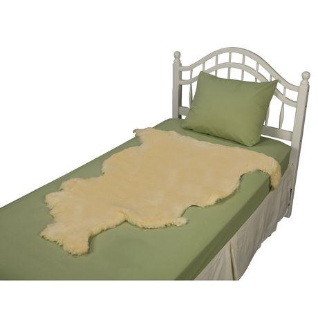 Coussin de lit DMI en peau de mouton naturelle - image 3 de 4