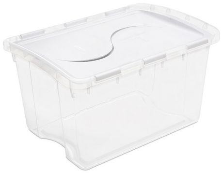 Sterilite 45L Hinged Lid White Storage Box  sc 1 st  Walmart Canada & Sterilite 45L Hinged Lid White Storage Box | Walmart Canada